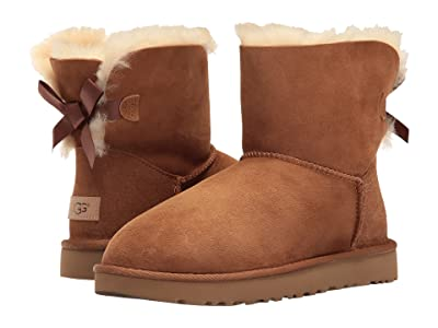 UGG Mini Bailey Bow II (Chestnut) Women