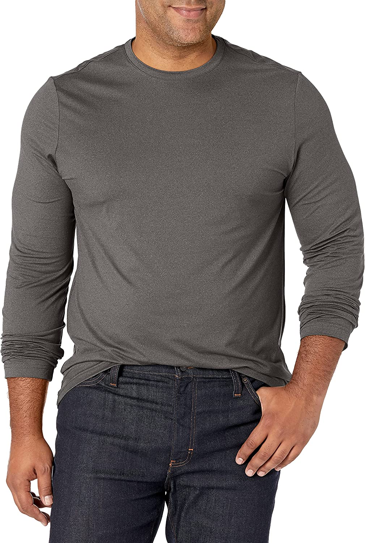 Van Heusen Men's Big and Tall Performance Tech Long Sleeve Crewneck T-Shirt