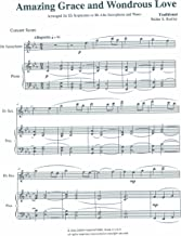 Amazing Grace and Wondrous Love for Sopranino or Alto Saxophone and Piano Arranged by Walter S. Hartley