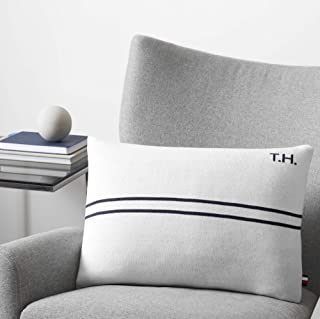 Best Tommy Hilfiger Twin Stripe Decorative Pillow, 15x20 inch, Optic White Review