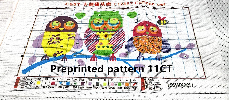 Gato negro dos, sello 11CT CaptainCrafts Kit de punto de cruz con estampado preimpreso para principiantes ni/ños y adultos