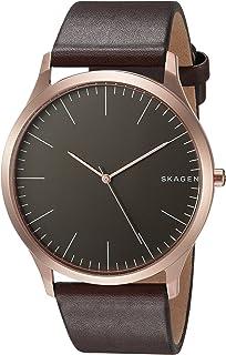 Skagen Men's Skw6330 Jorn Dark Brown Leather Watch, Analog Display
