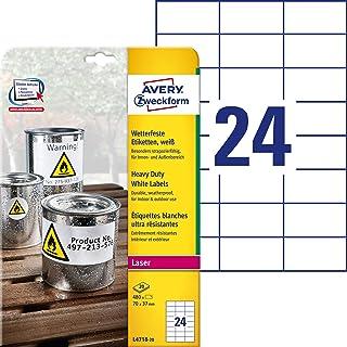 Avery Italia L4718-20 Etichette in Poliestere, 70 x 37 mm