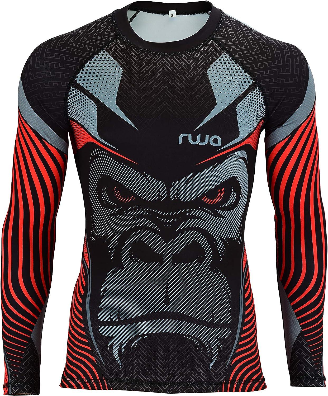 Ruja Men's Pro Fitness MMA Boxing Training Gorilla Rash Guard