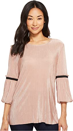 B Collection by Bobeau Loxley Mini Pleat Flutter T-Shirt
