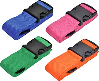 WeBravery Adjustable Luggage Straps Suitcase Belts Travel Bag Strap (Multicoloured 4Pieces)