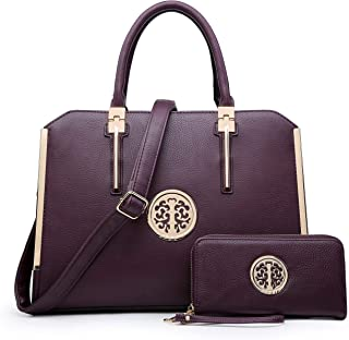 DASEIN Women Large Satchel Handbag Shoulder Purse Top handle Work Bag Tote With Matching Wallet
