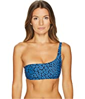 Stella McCartney - Animal One Shoulder Swim Top