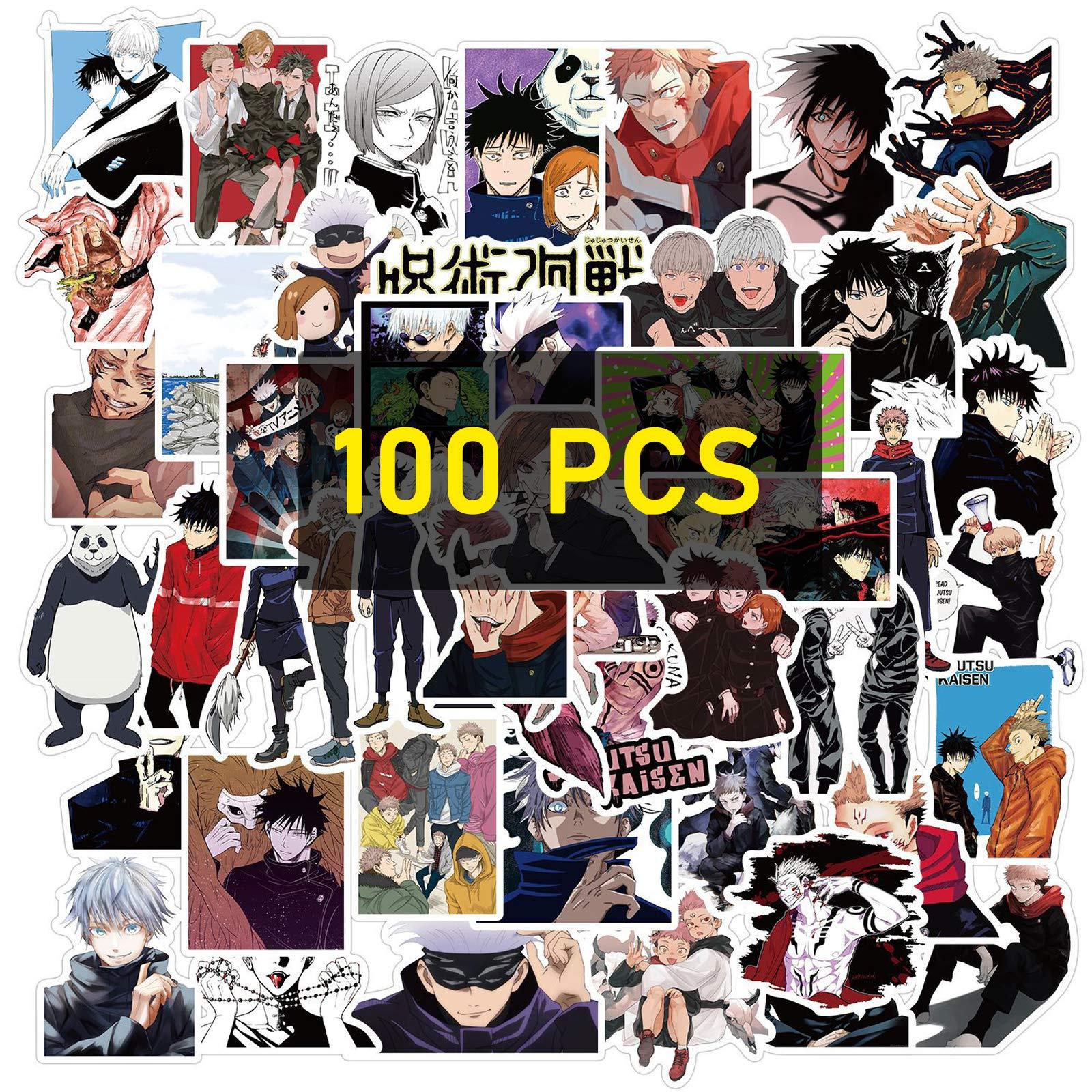 Amazon Com Jujutsu Kaisen Stickers 100pcs Jujutsu Kaisen Manga Sticker Pack For Kids Teens Adults 100pcs Jujutsu Kaisen Kitchen Dining