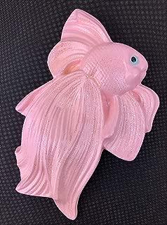 Pink Glitter Beta Fish ChalkWare Wall Plaque