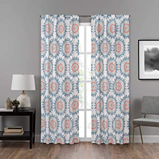 ECLIPSE DraftStopper Room Darkening Curtains for Bedroom - Summit Medallion 40