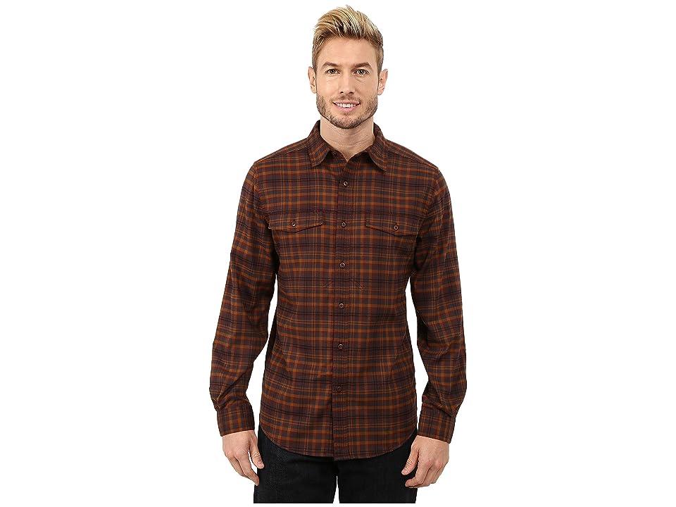 Royal Robbins Mason Plaid Long Sleeve Shirt (Walnut) Men