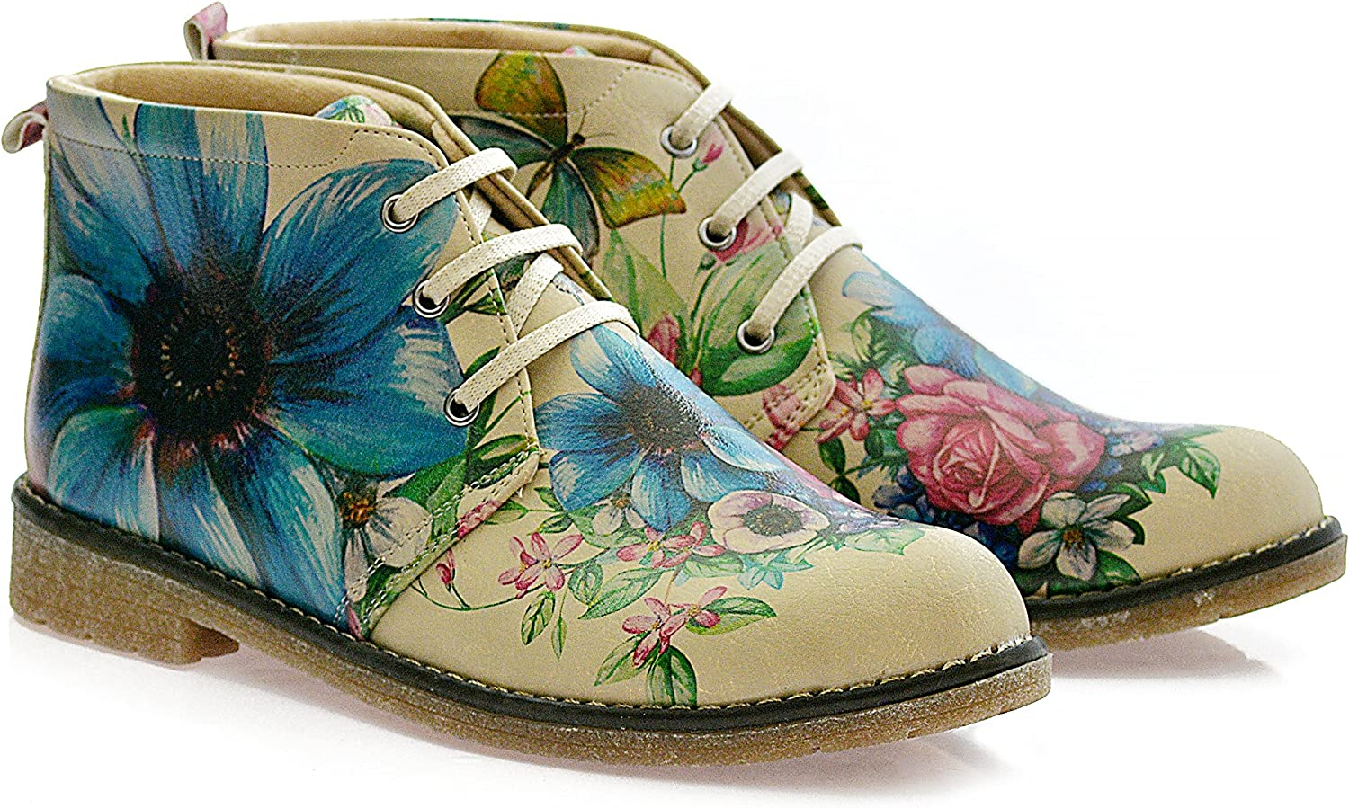 GOBY Womens shoes Flower Pattern Ankle Boots HP209