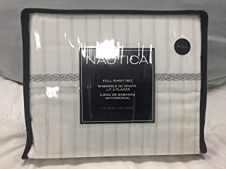 Nautica London Harbor Grey Full Sheet Set
