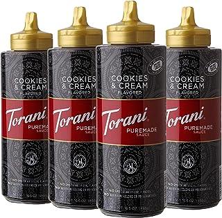 Torani Puremade Cookies & Cream Sauce, 16.5 Ounces (Pack of 4)