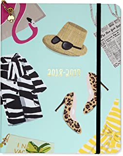 Kate Spade Large Academic Daily Planner 2018-2019 with Daily Weekly Monthly Views and Happy Stickers (Illustrative)