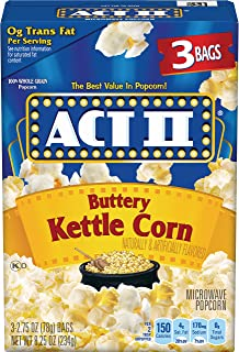 ACT II Buttery Kettle Corn Microwave Popcorn, 3-Count 2.75-oz. Bags