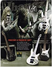 Ibanez Guitars - KORN - 20th Annivery The Paradigm Shift - 2014 Print Advertisement