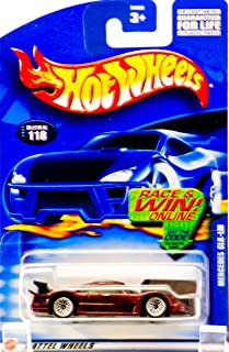 Hot Wheels Mercedes CLK-LM 2002-118 die-cast car metallic purple