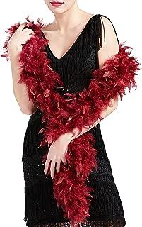 Coucoland 1920s Flapper Federboa Charleston Tanzen Flauschige Feder Boa f/ür Halloween Party Gatsby Kost/üm Zubeh/ör Damen Fasching Karneval Accessoires 180 cm Lang Schwarz
