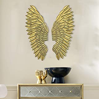 Craftter Set of 2 Angel Wings Bright Cold Metal Wall Art Decorative Wall Sculpture Hanging
