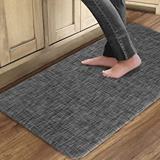 QSY Home Kitchen Anti Fatigue Rugs 20x39x1/2-Inch Floor Comfort Mats Waterproof Non Skid Thick Cushioned for Standing Desk...