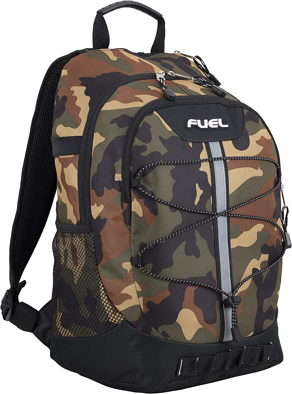 Fuel Terra Bargain sale Sport Spacious School Backpack Bungee Front with Bla Selling rankings