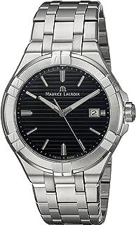 Maurice Lacroix - Reloj Analógico para Hombre de Cuarzo con Correa en Acero Inoxidable AI1008-SS002-331-1