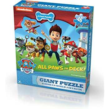 24 Pieces Large 24 Pieces Large Cardinal Industries 6029998 All Paws on Deck Paw Patrol Puzzle in Tin 8 x 6 x 3 8 x 6 x 3