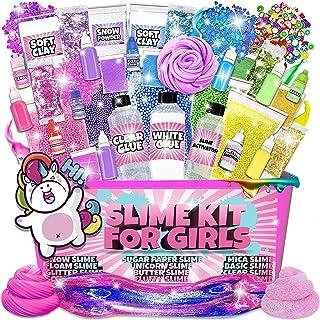 Slime Kit for Girls - All-Inclusive UNICORN Slime Making Kit - PLUS Slime Supplies Kit [57 Pieces Set] - DIY Slime Kit Mak...