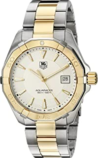 Men's 'Aquaracracer' Swiss Quartz Gold and Stainless Steel Dress Watch, Color:Two Tone (Model: WAY1120.BB0930)