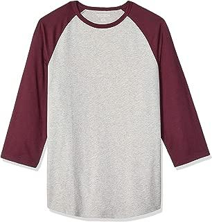 Men's Slim-fit 3/4 Sleeve Baseball T-Shirt
