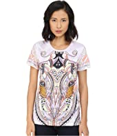 Just Cavalli - Leo Deco Print Cotton T-Shirt Relaxed Fit