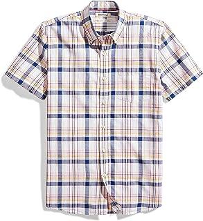 Goodthreads Amazon Brand Men's Standard-Fit Short-Sleeve Lightweight Madras Plaid Shirt