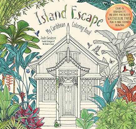Island Escape Adult Coloring Book: My Caribbean Coloring Book