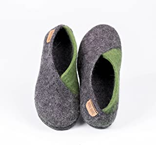 2d551b7e54b Gray and Olive green ENVELOPE slippers for women