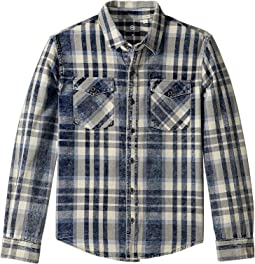 Plaid Shirt with Denim Patches (Big Kids)