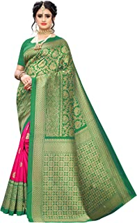 Gosriki silk with blouse piece Saree (SENTHIL GREEN-Go Free)
