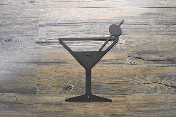 12 To 24 Martini Glass Bar Metal Wall Hanging Art Made In USA