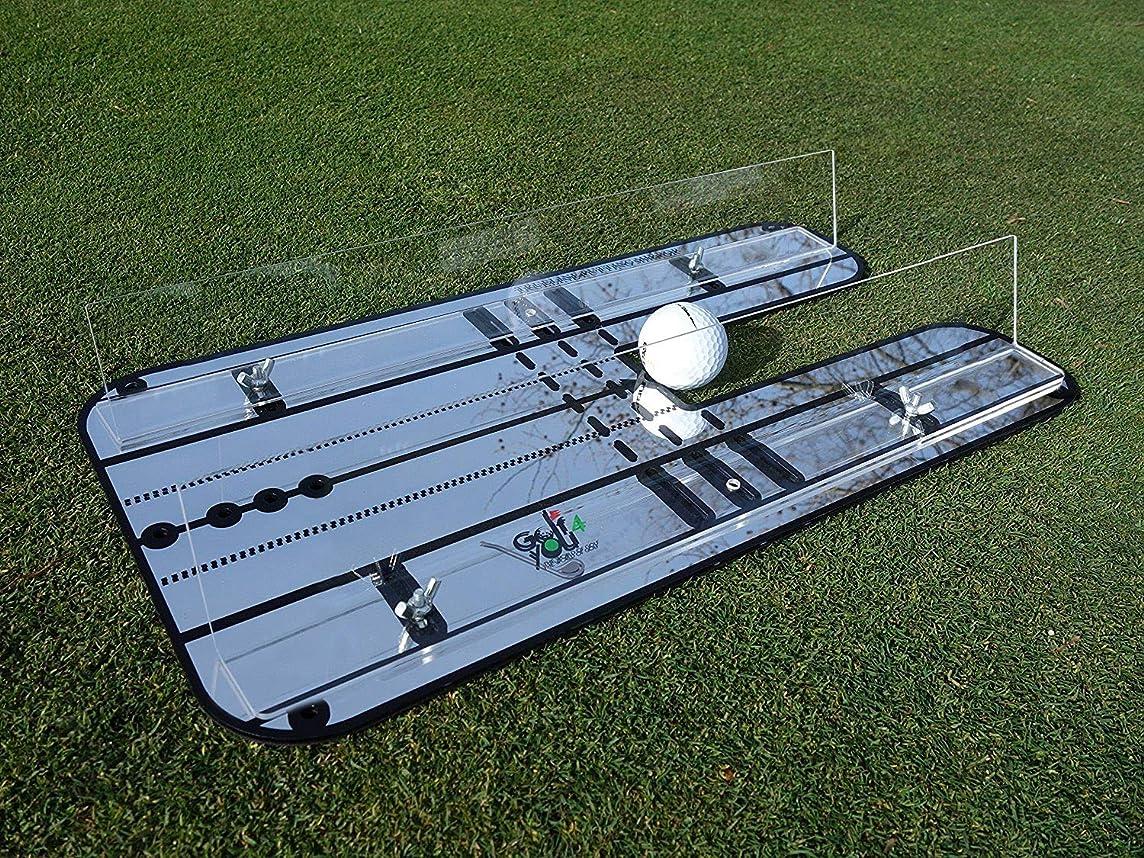 下着尊敬投げる【 Golf4You 】プレミアムアライントメントミラーパットと当社オリジナル調節自由なクリアガードレール-主要訓練用具-オンライン 、一貫性のあるパッティングストローク- サイズ: 44.5