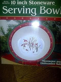 Royal Seasons Snowman Stoneware Serving Bowl