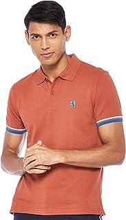 Giordano Men's 01017008 Embroidery lion polo shirt
