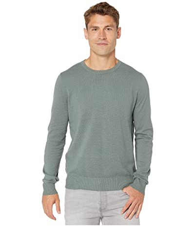 J.Crew Cotton-Cashmere Pique Crewneck Sweater (Dark Eucalyptus) Men