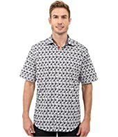 BUGATCHI - Pescare Classic Fit Short Sleeve Woven Shirt