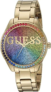 GUESS Women's Japanese Quartz Watch with Stainless Steel Strap, Gold, 16.1 (Model: U0987L5)