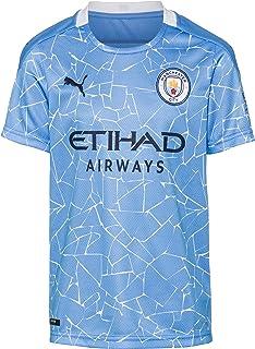 PUMA Uni Kinder Trikot 20/21 Home Manchester City Fc Replica Kinder with Sponsor Logo T-Shirt