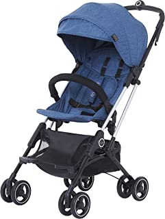 Evolur Voyager Stroller: Navy | One-Hand Easy Fold | Ultra Lightweight Compact Baby Stroller | Best Used for Airplane & Ca...