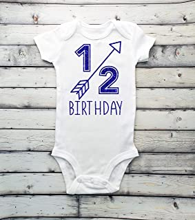 1/2 birthday bodysuit - half birthday - boys bodysuit - 1/2 - Half - 6 months baby - 6 months shirt - it's my half birthday - boy bodysuit - its my 1/2 birthday -
