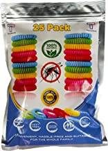 Mosquito Repellent Bracelet Bug Bands for Kids, Adults & Pets - Easy & Comfortable Citronella Anti Pest Protection - No More Bug Spray! + 6 Free Repellent Patches, Waterproof, 100% Natural (25 Pack)