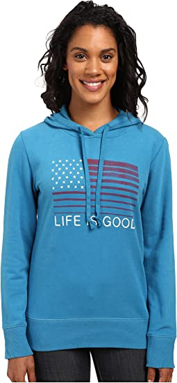 Flag Stripe Go-To Pullover Hoodie